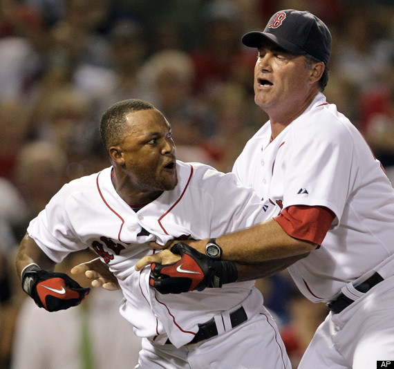 red sox amp indians fight in boston video huffpost
