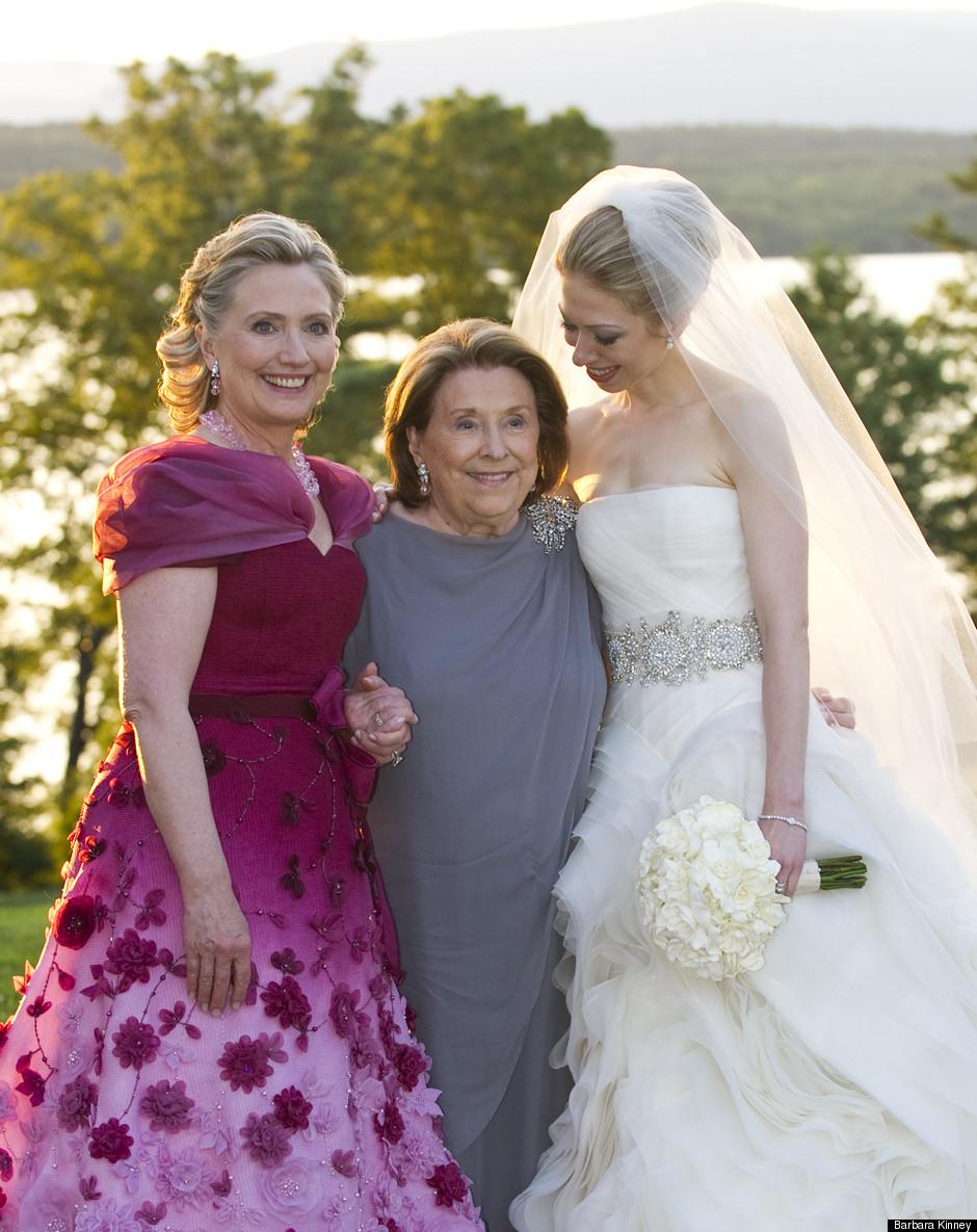 Hillary Clinton S Oscar De La A Dress See Full Length Photo