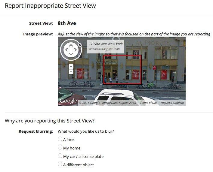 google street view blur