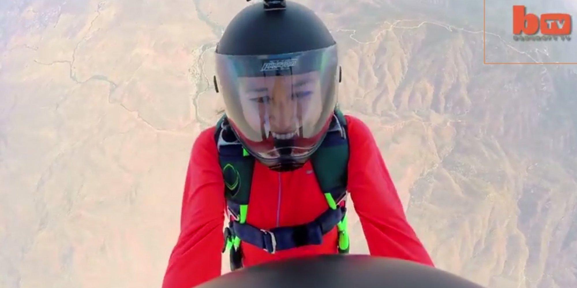 Skydiving Proposal Drops Ring