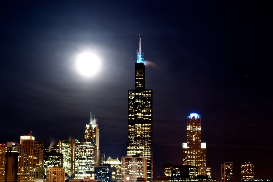 sears tower night