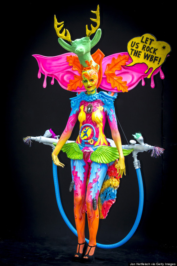 Partially Nude Bodies Transformed Into Vivid Masterpieces At World Bodypainting Festival 2014 Huffpost