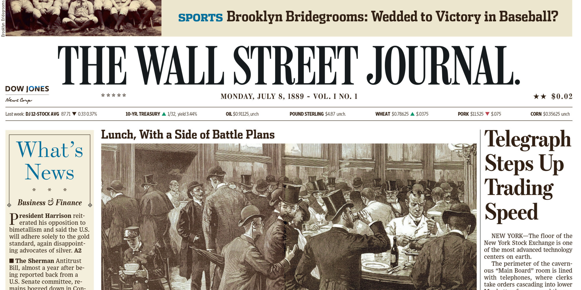 purpose of the wall street journal Is it possible to purchase old wall street journal  or section of the wall street journal by calling  rights to major newspapers for that purpose.