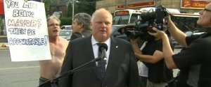 Rob Ford Shirtless Protesters