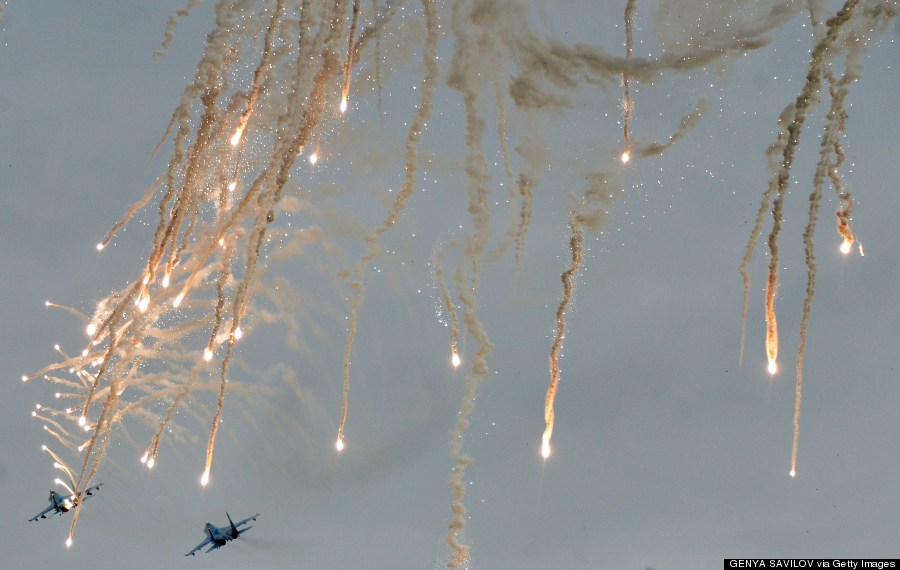 ukrainian fighters shoot heat missiles
