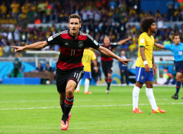 Record-Holder Klose's 16 World Cup Goals In Pictures