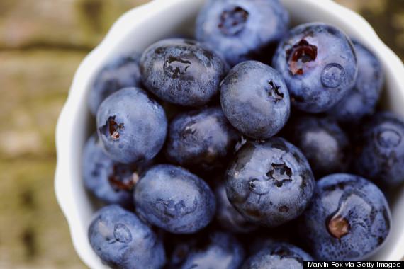 blueberries dusty