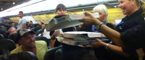 Pilot Buys Pizza