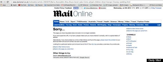 george clooney story daily mail