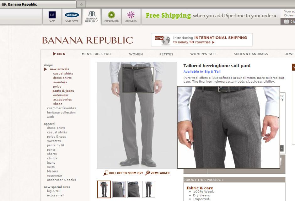 Banana Republic Pants Retouched To Remove Mysterious Lump (PHOTOS)