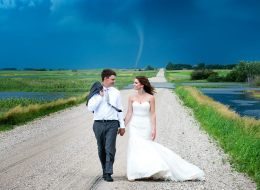 These Tornado Wedding Photos Will Sweep You Off Your Feet