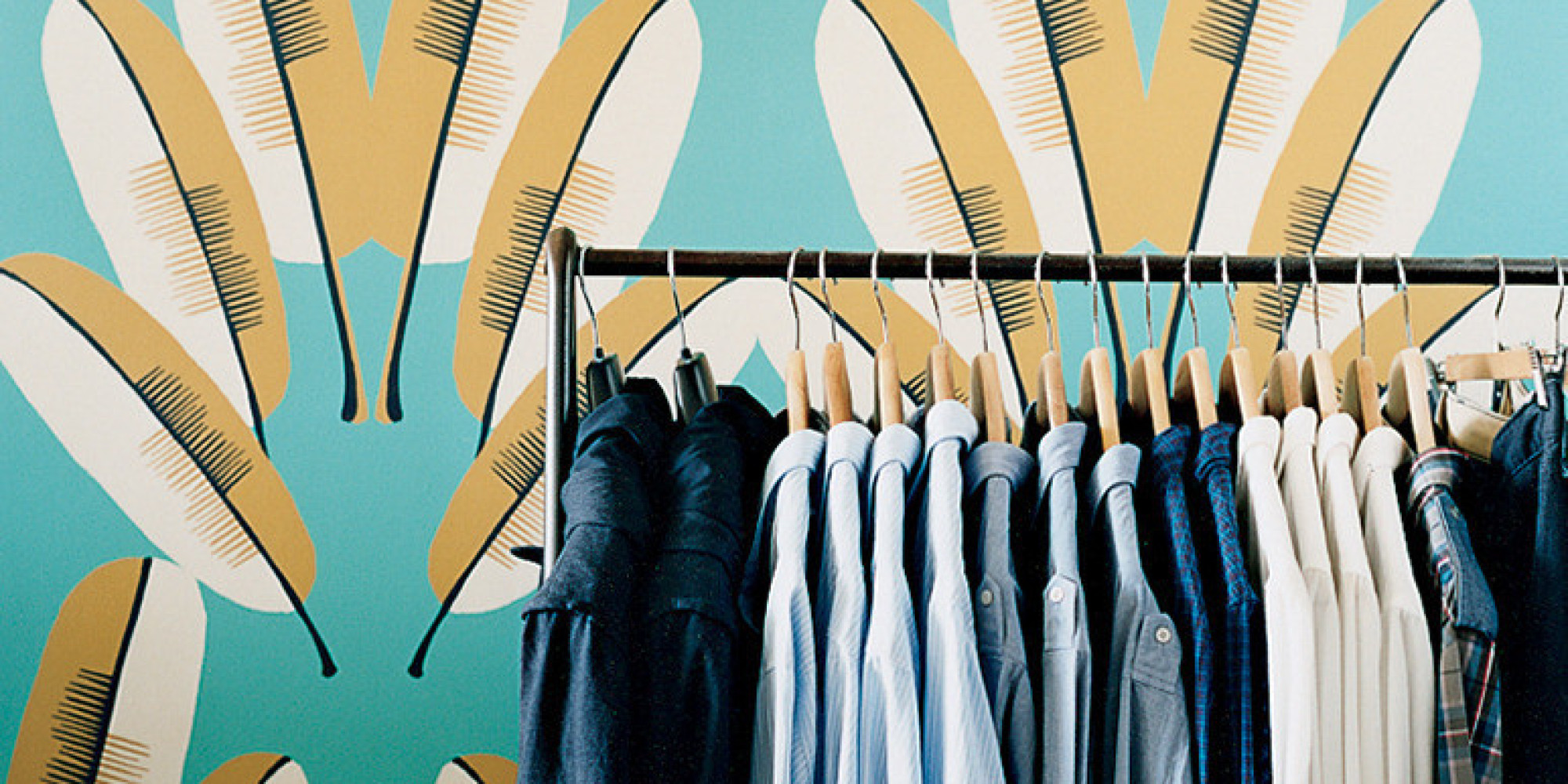 6 ways to store your stuff when there 39 s not enough closet for No closet solutions