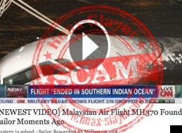 Facebookers, Don't Click The 'Missing Malaysia Airlines Plane Found By Sailor' Link