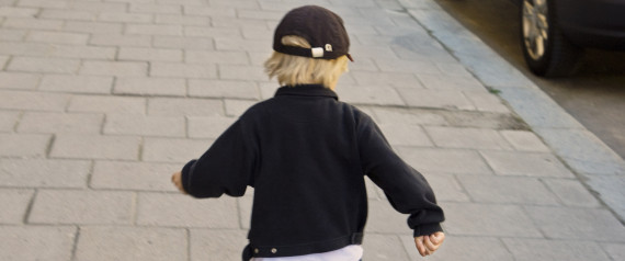 BACK OF CHILD RUNNING