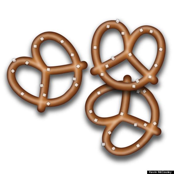 emoji pretzel