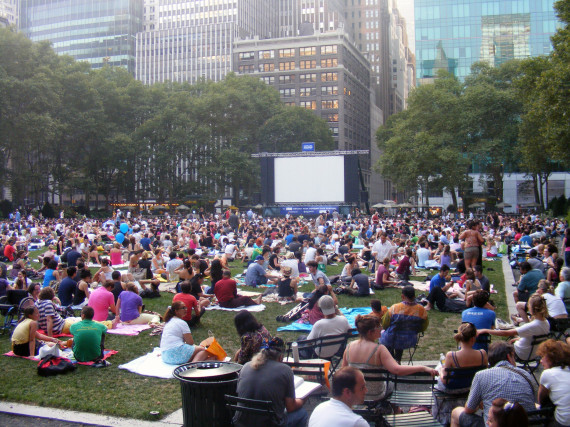 movie in bryant park