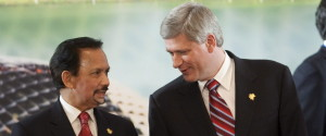 Stephen Harper Sultan Of Brunei