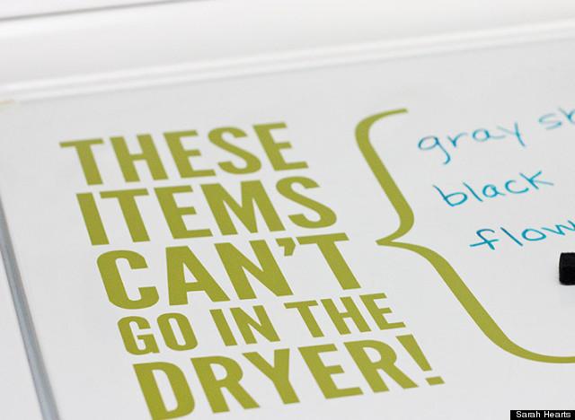 dry eraser doing laundry