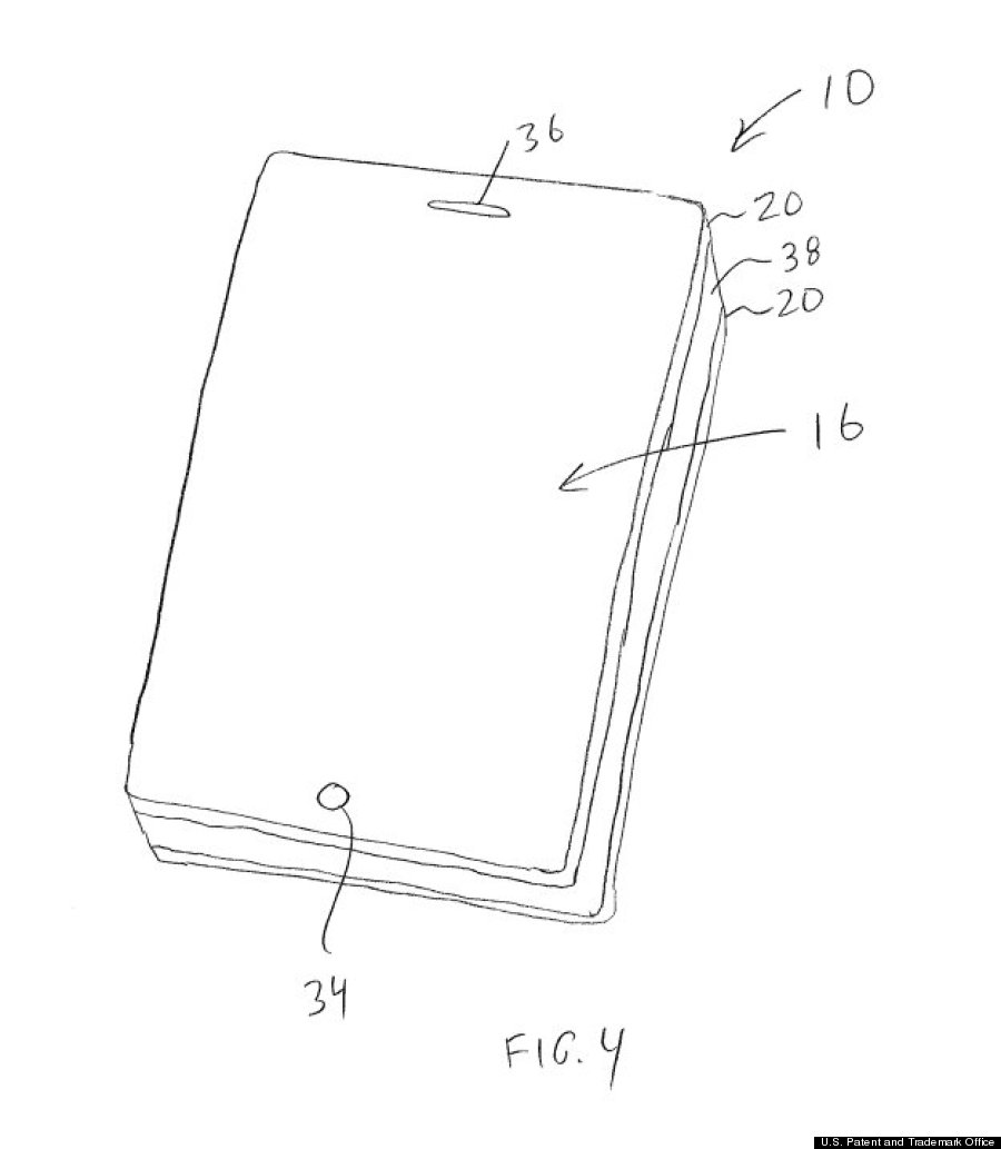 iphone patent front view