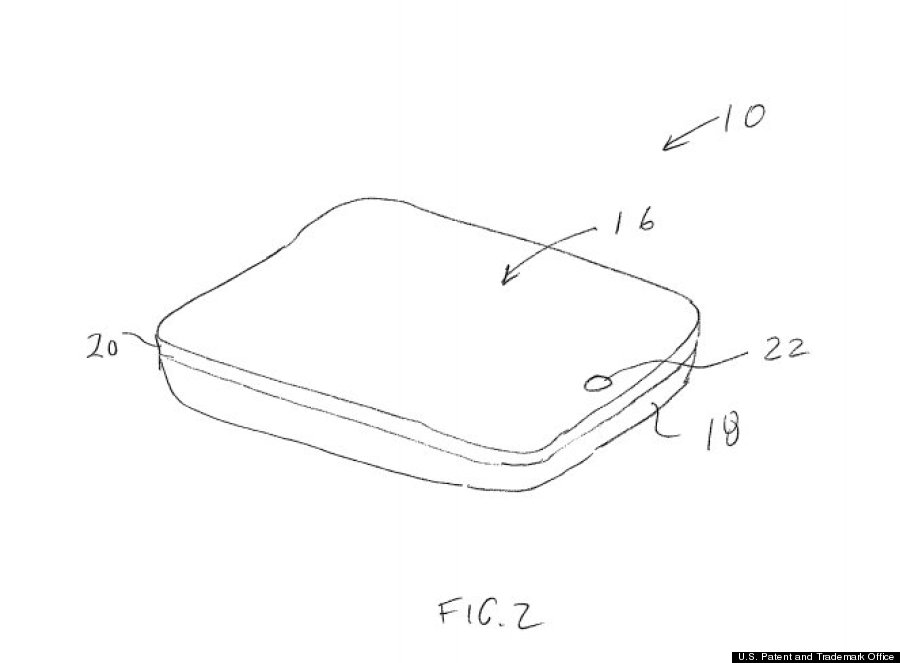 iphone patent side view