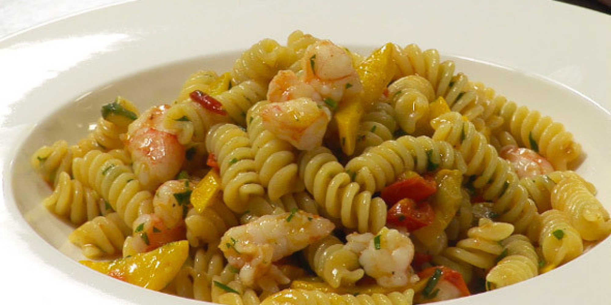 Recipe Of The Week Fusilli With Prawns Courgettes