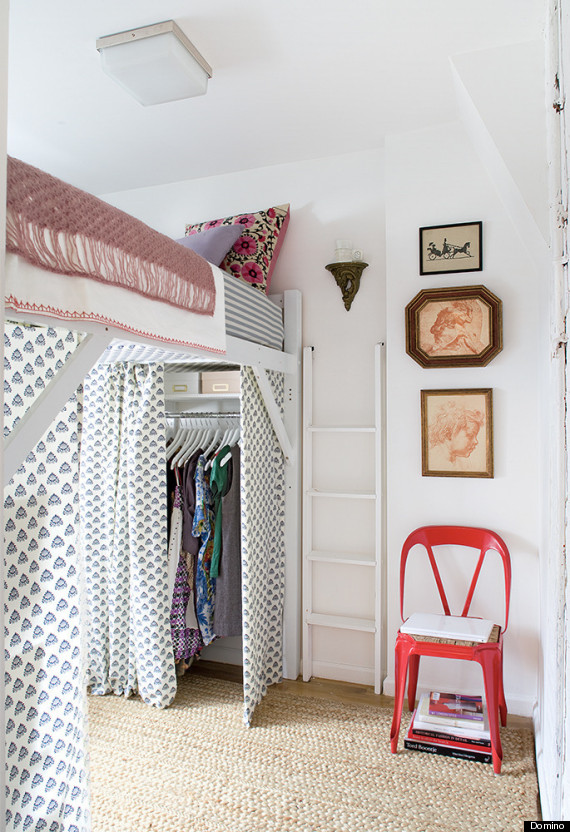 While you don't have to go to the extreme of lofting your bed high enough  to fit a closet itself underneath, a couple of smaller risers will really  give you ...