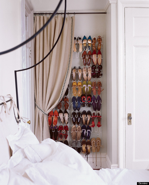 6 ways to store your stuff when there 39 s not enough closet space huffpost - Shoe rack for small spaces image ...