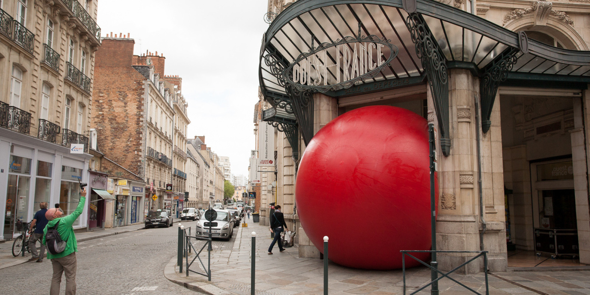 The Giant Red Ball That S Touring The Globe In The Name Of