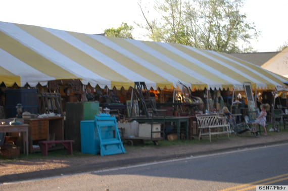 A View Of One The Vendor Areas At Brimfield