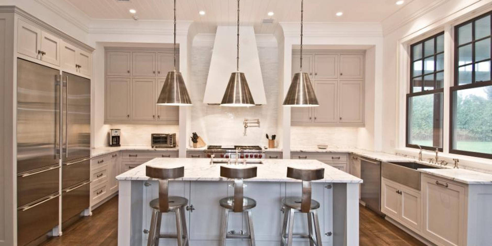 exceptional Best Paint Color For Kitchen With White Cabinets #1: Huffington Post