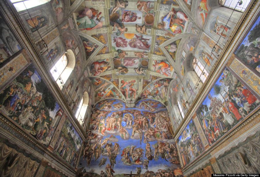 Church Ceiling. Sistine Chapel, Vatican City 157872826