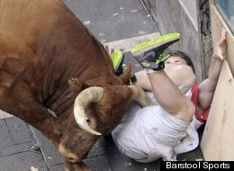 Wonder How Having A Bull Horn Puncture Your Leg Feels?