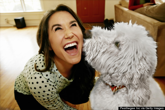 laugh with dog