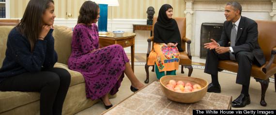 malala president obama