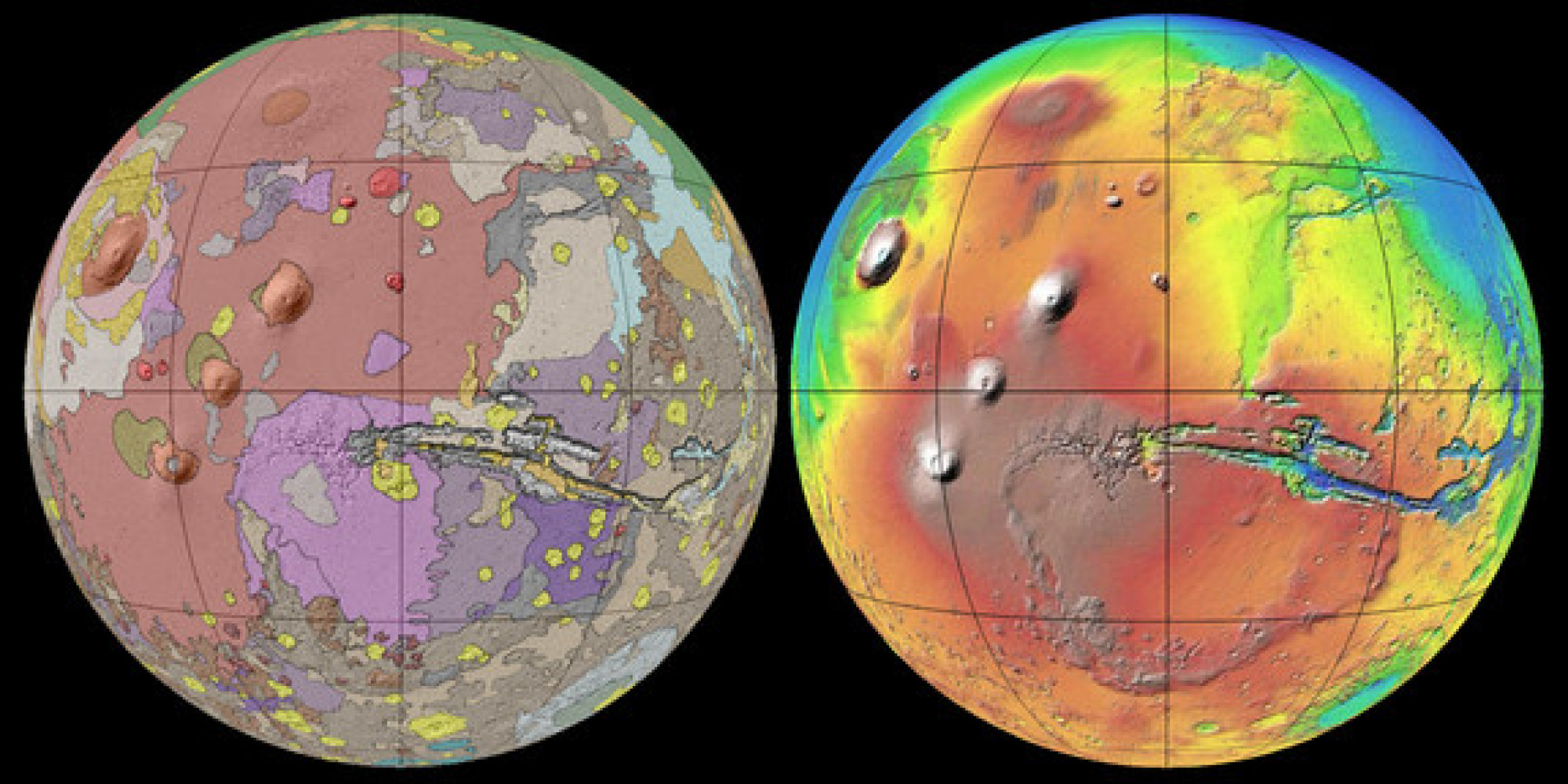 New Mars Map Gives Best View Of Red Planet's Surface Yet ...