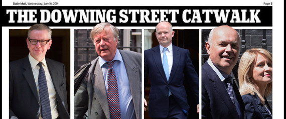 daily mail catwalk reshuffle sexist spoof