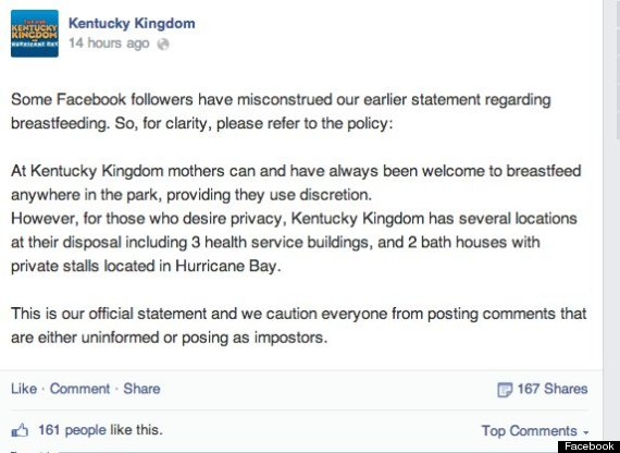 kentucky kingdom response