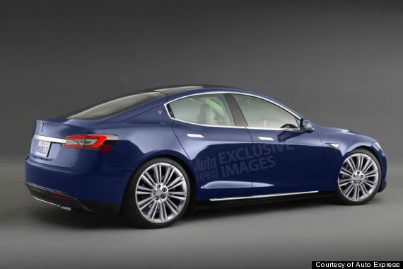 Rendering of what the Tesla Model III might look like. Courtesy AutoExpress