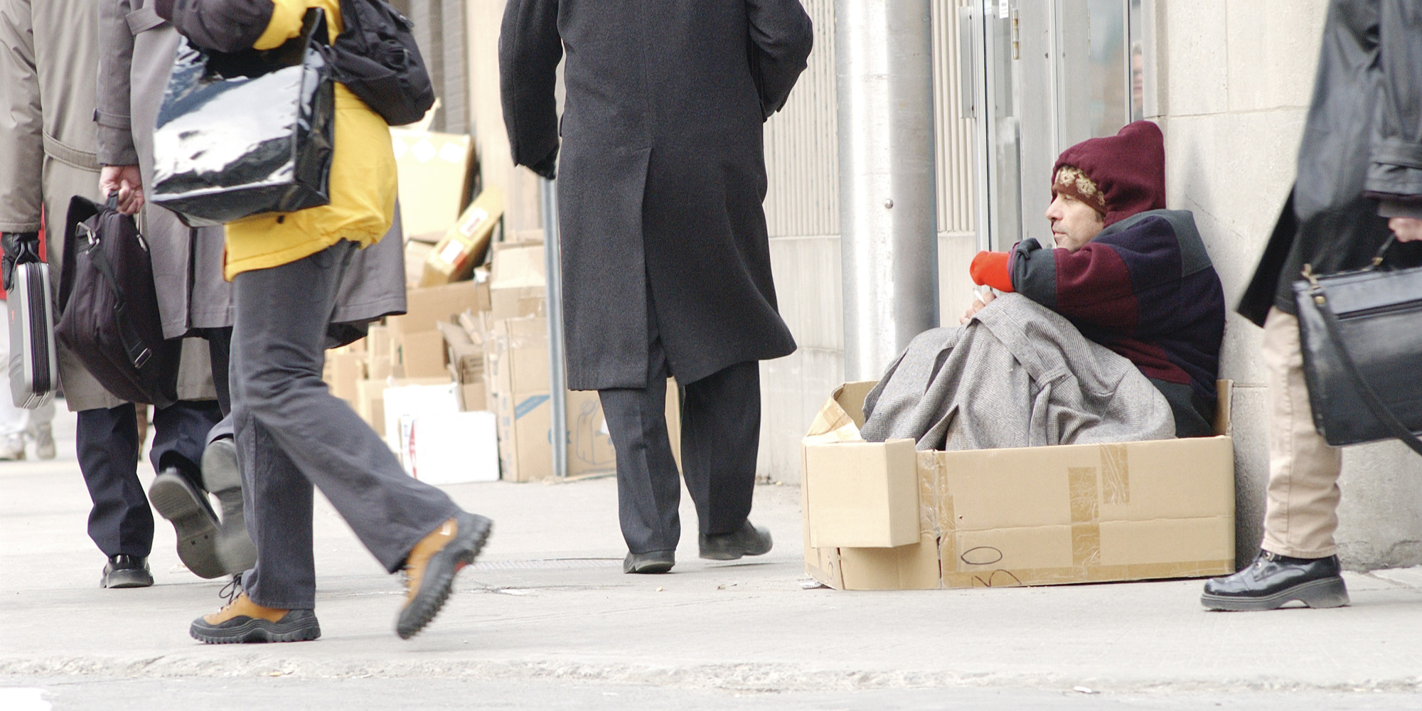Homeless People Can T Sit On Sidewalks In More Than Half Of U S Cities Huffpost