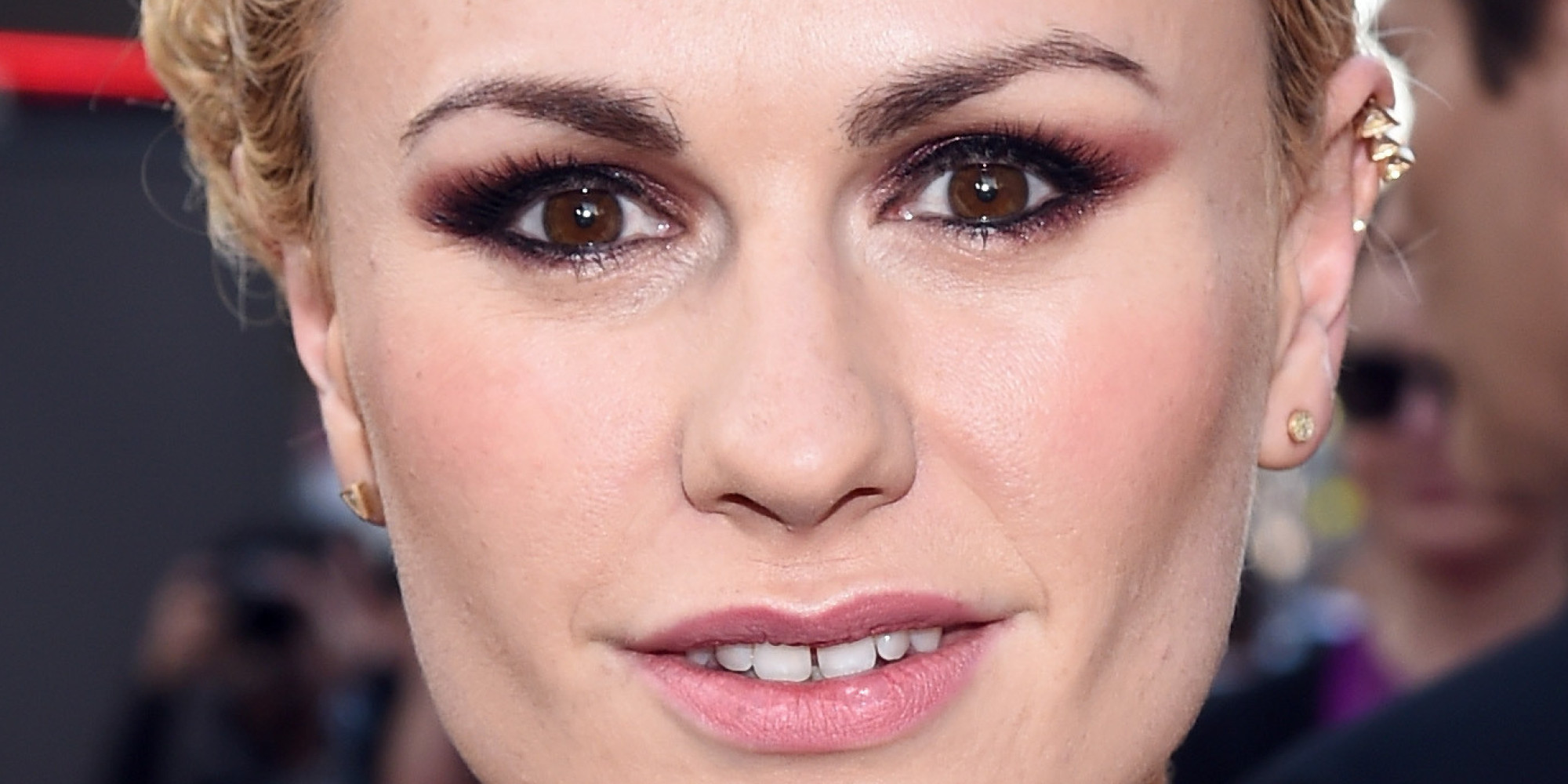 Anna Paquin Debuts New Mermaid-Inspired Purple Hair