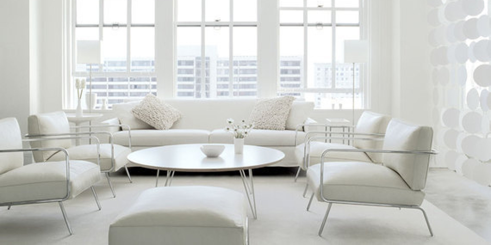 All White And Blue Delight: 7 All White Interiors That Deliver A Fresh Look