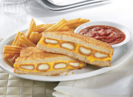 Denny's Fried Cheese Melt Sandwich: Mozzarella Sticks In A Grilled Cheese