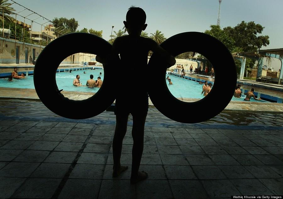 kids swim iraq