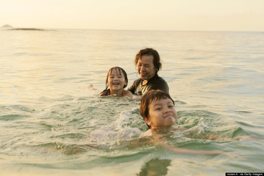 children swim indonesia
