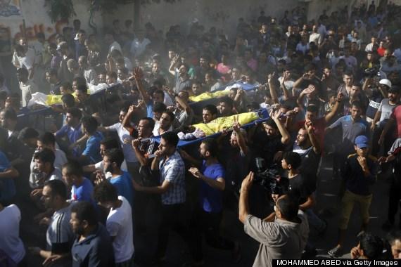 gaza boys protest