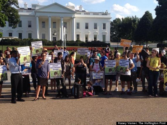immigration rally at white house