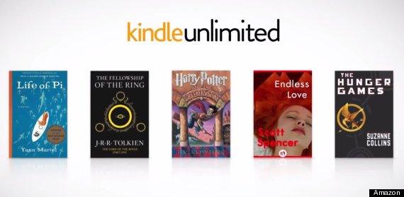 Ecco alcuni bestseller inseiti nel programma Kindle unlimited: Vita Pi, il Signore degli anelli, Harry Potter, Un amore senza fine, Hunger Games. Anche la saggistica è ben rappresentata: guida la truppa Flash Boys.