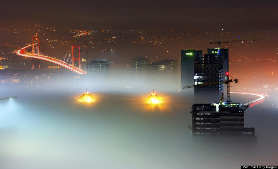 istanbul in fog