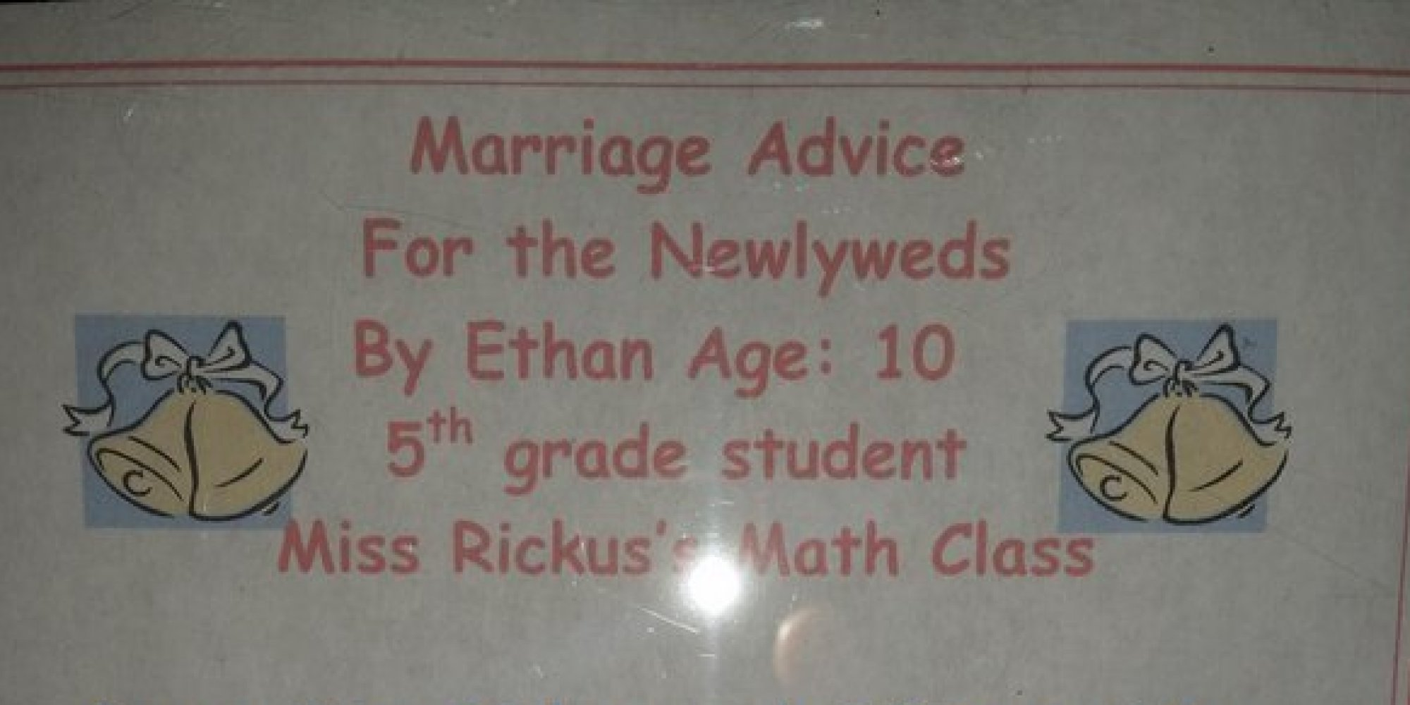 10-Year-Old's Marriage Advice Is So Spot On, You'll Wish