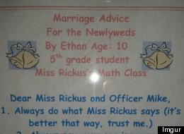 10-Year-Old's Marriage Advice For His Teacher Is Spot On